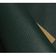 Кожа искусственная зернистая матовая  22х30 см, т.зеленый (1 лист)