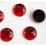 Стразы граненые акрил 16 мм,  красный (5 шт)