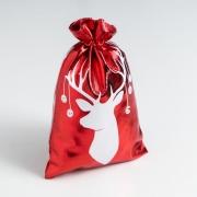 Мешочек подарочный парча Merry Christmas, 16 х24 см