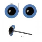 Глазки стеклянные 8 мм голубые (пара)