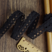 Кружево 1602-0028 12мм черный (1м)