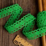 Кружево 6307-1.08 20мм зеленый (1м)