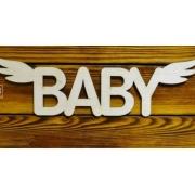 """Слово """"Baby"""" с крыльями (длина 30см)"""