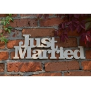 "Слово ""Just married"" (длина 40см)"