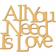 """Слова """"All you need is love"""" (50х42см)"""