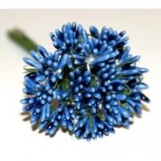 Декоративный букетик темно-голубой 023H (12шт.)