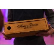 Короб для винной бутылки с гравировкой и пропиткой 11.3х36.11см