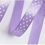 Лента атласная в горошек 1,5 см  (2метра) фиолетовый 21