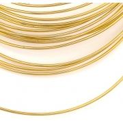 Проволока для плетения  SF-905 1.5 мм золото (5 метров)