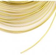 Проволока для плетения 1 мм светлое золото SF-904,10 метров