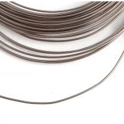 Проволока для плетения 1 мм тёмное серебро SF-904,10 метров