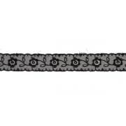 Кружево капрон 55мм TBS.0574-3013 Черный (1м)