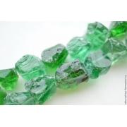 Бусины природный кварц необработанный зеленый (1шт.)