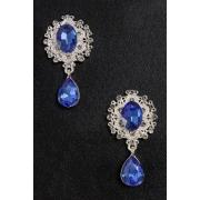 Серединка ювелирная с подвеской  3,5х5 см (2 шт) серебро/синий