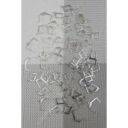 Швензы с застежкой, нержавеющие, цвет серебро 1 пара