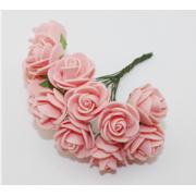 Розы из фоамирана 2 см (12 шт) розовые