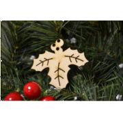 Новогоднее украшение Веточка с листиками 10 см