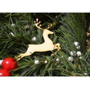 """Новогоднее украшение """"Летящий олень"""" 10 см"""