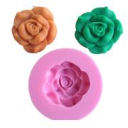 Молд силиконовый Роза (диаметр всего молда 6см)
