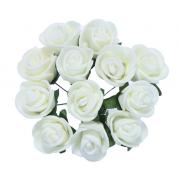 Розы из фоамирана 2 см (12 шт) бледно-бледно-желтые