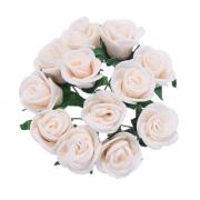 Розы из фоамирана 2 см (12 шт) айвори