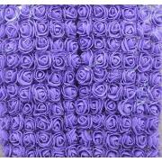 Розы из фоамирана с вуалеткой 2 см (12 шт) фиолетовые