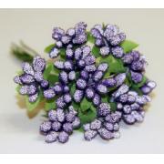 Декоративный букетик фиолетовый 025C (12шт.)