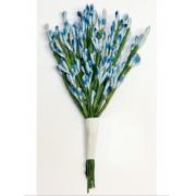 Декоративный букетик голубой 022C (12шт.)