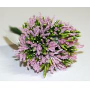 Декоративный букетик розовый 027B (12шт.)