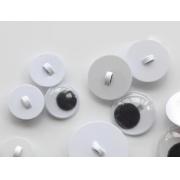Глазки бегающие пластик пришивные 10мм (4шт.)
