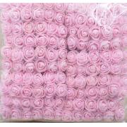 Розы из фоамирана с вуалеткой 2 см (12 шт) розовые
