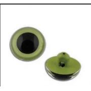 Глаза пластик CRP-9 9мм пришивные (пара) зеленые