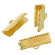 Концевик (зажим) 20х8 мм под золото (4 шт.)