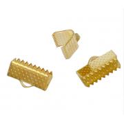 Концевик (зажим) 13х8 мм под золото (4 шт.)