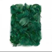 Перья 9см темно-зеленые (пачка)
