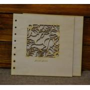 Обложка ажурная с инициалами (22х22см)