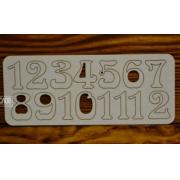 Цифры арабские №3 выс.3см (картон)