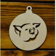 Шар с силуэтом свинки №2 8см