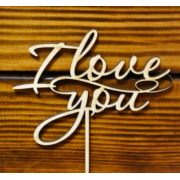 "Топпер ""I love you"" (ширина 10см)"