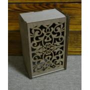 Коробка с ажурной крышкой (БЕЗ тонировки) 19х13х9.2см