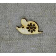 """Украшение для новогоднего декора """"Мышка мимишка с ромашкой"""" 3х1.9см (5шт.)"""