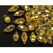 Бусины стекло капли граненые 5х12мм (10шт.) желтые