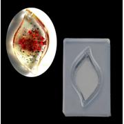 Молд для эпоксидной смолы Лист-подвеска 4.7х3см
