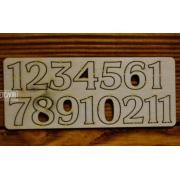 Цифры арабские №6 выс.2 см (фанера)