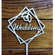 Топпер Wedding 12х21.7см