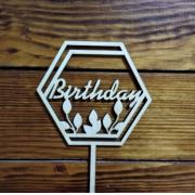 """Топпер """"Birthday"""" 12х20.7см"""