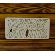 Цифры арабские для часов №15 выс.3.5см (картон)