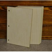 Обложка деревянная А5 для колец (2шт.)