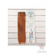 Волосы - тресс для кукол «Прямые» длина волос: 25 см, ширина:100 см, цвет № 30