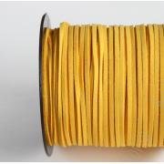 Шнур замшевый 2,5х2 мм (1метр) желтый